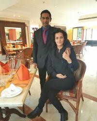 Tulip Joshi and Captain Vinod Nair