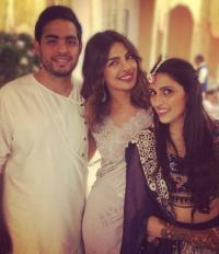 Shloka and Akash with Priyanka