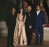 Akash and Shloka with Shah Rukh Khan and Karan Johar
