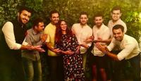 Esha Deol and Bharat Takhtani with his six brothers