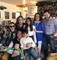 Karisma Kapoor with family