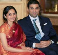 Vishwanathan Anand with Wife