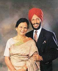 Milkha Singh with wife