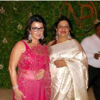 Madhu Chopra And Denise Jonas At The Engagement Party