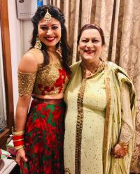 Pooja Batra with mother in law