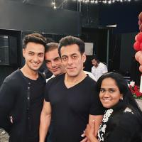 Arpita Khan Sharma, Aayush Sharma and Salman Khan