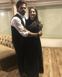 Sreesanth and his wife, Bhuvneshwari