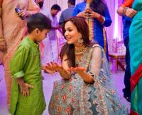 Soundarya with her son, Ved