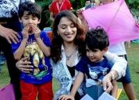 Madhuri and her two sons
