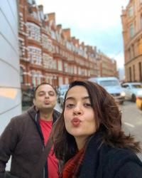 Surveen Chawla with her husband, Akshay Thakker