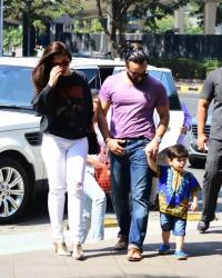 Taimur Ali Khan, Saif Ali Khan and Kareena Kapoor Khan