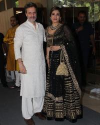 Raveena Tandon Thadani with husband, Anil Thadani