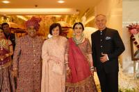 Tony Blair and wife Cherie at Akash Ambani's wedding