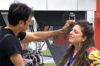 Rajev Paul and Delnaaz Irani in Bigg Boss
