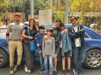 Suzzane And Hrithik And Sonali Lunch Date