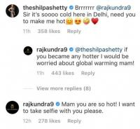 Shilpa Shetty Kundra and Raj Kundra Social media PDA