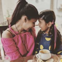 Chhavi Mittal with her daughter