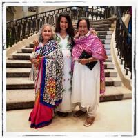 Sameera Reddy with mom and mom-in-law