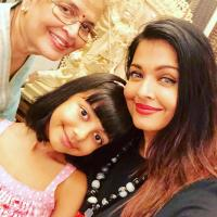 Aishwarya Rai Bachchan with mother, Brindya Rai