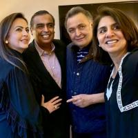 Ambanis visits Rishi Kapoor and Neetu Kapoor in New York