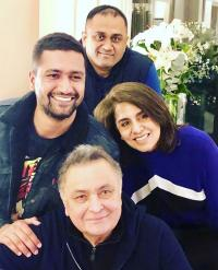 Vicky Kaushal and Boman Irani visits Rishi Kapoor and Neetu Kapoor in New York