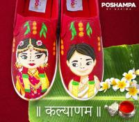 hand painted shoes Poshampa