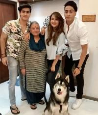 Urvashi and family