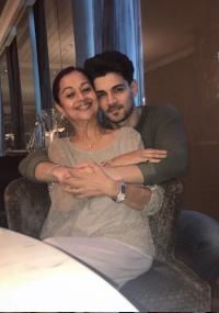 Aditya Pancholi and mother