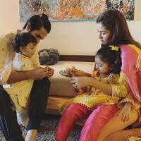 Zain and Misha first rakhi
