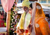 real bride wore orange lehenga