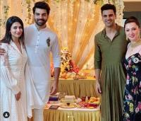 divyanka and vivek during ganpati