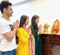 divyanka and vivek celebrate ganpati in chandigarh