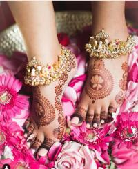 NRI Bride feet jewellery