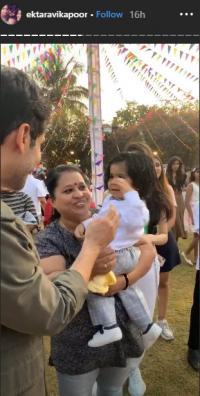ekta kapoor and Ravie kapoor first birthday
