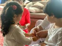 Inaaya Naumi Kemmu and Taimur Ali Khan