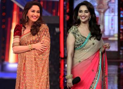 79d52fd17412c 7 Most Stunning And Trendy Saree Looks Of Madhuri Dixit From Jhalak Dikhla  Jaa