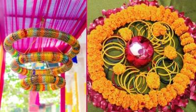 How to organise a village themed wedding perfectly 6 innovative ways to use bangles in your wedding decor junglespirit Choice Image