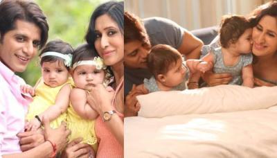 Karanvir Bohra And Teejay Sidhu Had An Adorable Photoshoot With Their Twin Daughters