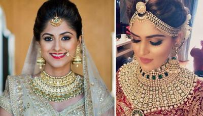 30 Real Brides Flaunting Striking And Royal Kundan Jewellery On Their Wedding