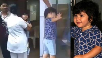 Taimur Ali Khan Corrects Paparazzi When They Call Him By His Name And Says 'It Is Tim', Video Inside