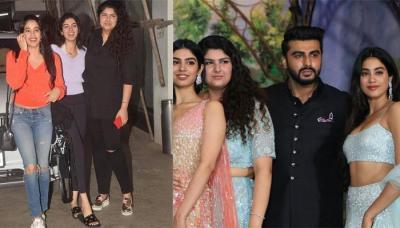 Janhvi, Khushi And Anshula Kapoor Are All Smiles Post Bhaiya Arjun's Namaste England Screening