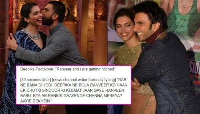 Ranveer Singh And Deepika Padukone's Wedding Announcement Is Celebrated With A Flood Of Memes