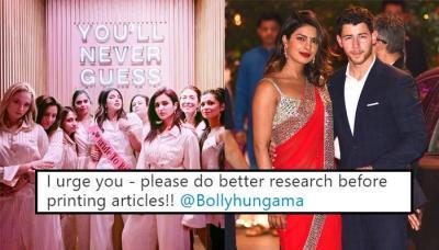 Parineeti Chopra Slams Media House For Reporting She Will Not Be A Bridesmaid At Priyanka's Wedding