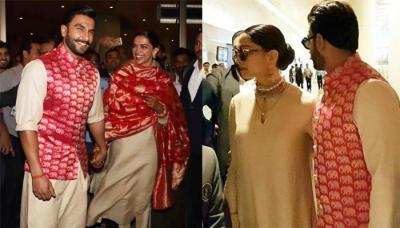 Ranveer Arrives At Mumbai Airport With Wife Deepika, Her Sindoor-Mangalsutra Are Grabbing Attention