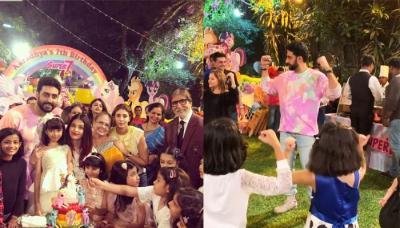 Aaradhya Bachchan's Birthday Bash: Farah, Esha, Shilpa's Kids Do Birdie Dance With Abhishek Bachchan