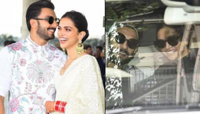 Deepika Padukone And Ranveer Singh Leave For The Venue Of Their Reception In Bengaluru, Pics Inside