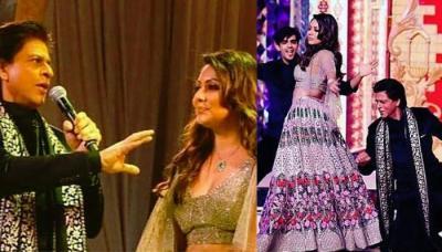 Shah Rukh Khan Dances With Wife Gauri Khan At Isha Ambani And Anand Piramal's Sangeet