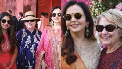 Isha Ambani Along With Mommy Nita Ambani, Hillary Clinton Visit Reliance Initiative Swadesh Bazaar