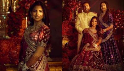 Isha Ambani, Nita Ambani And Mukesh Ambani's First Look From Her Reliance Family Reception