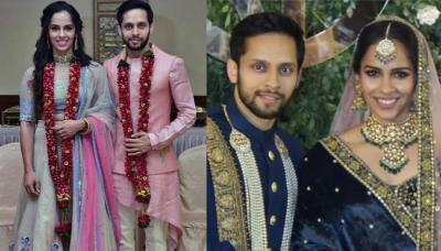 Saina Nehwal And Parupalli Kashyap's First Look From Their Wedding Reception